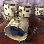 Pearl maple shell ジャイアントステップ ドラムセット ホワイト クリーム パール スタンド ケース 付き メイプル 10 12 13 16 22 深胴