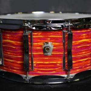 Ludwig classic maple snare mod orange wrap